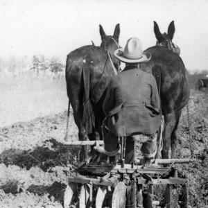 Farmer Disc Plowing