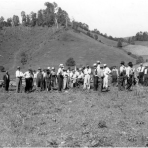 Thomas L. Wilson, demonstration farm, Watauga County farm tour