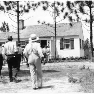 Pender County farm tour visits model home at Penderlea