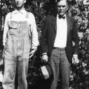 Hugh Overstreet (left) with man
