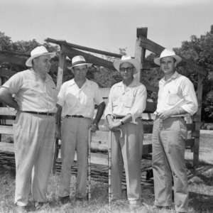 Four men on farm