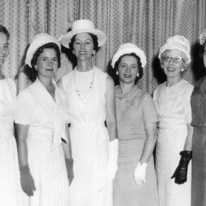 Group of six women