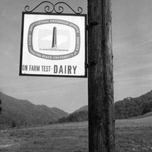 A First, On Farm Dairy Test, Farm of G.C. Palmer, Jr.