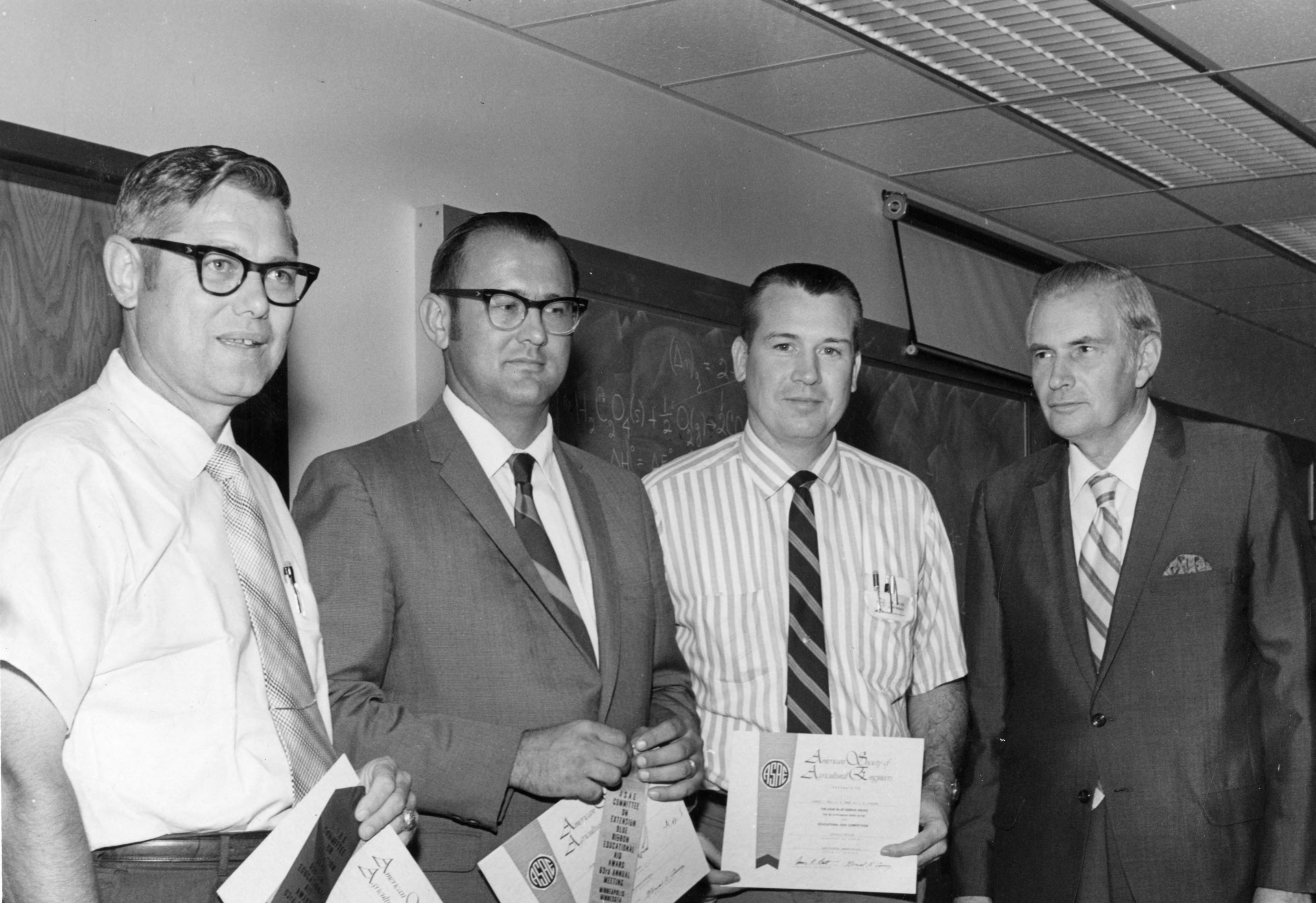 George Hyatt, Three Men with Certificates and Ribbons