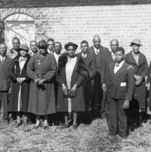 Negro Home Demonstration Meeting group photo