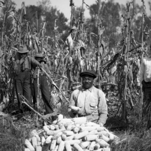 John Johnson with Corn