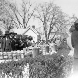 Outdoor gathering, African American Farm Tour