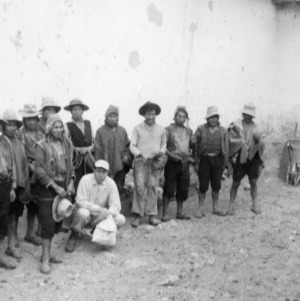 Hacienda owner and a group of his campesinos, 1963