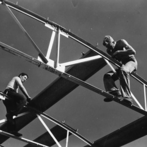 Erecting New Building at the Central Research Station