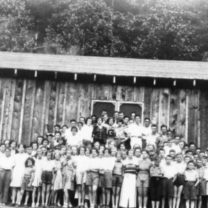 4-H Club members from Alexander and Caldwell Counties at Camp Kiwanis on John's River, July 1934