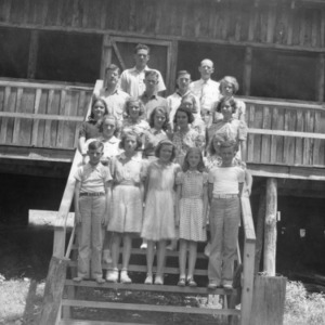 Henderson County 4-H Club members at Camp Swannanoa