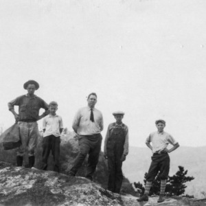 Club boys hiking in Caldwell County
