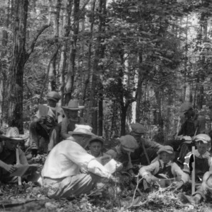 Club Boys studying Forest Management at Rowan County Boys' and Girls' Club, July 1926