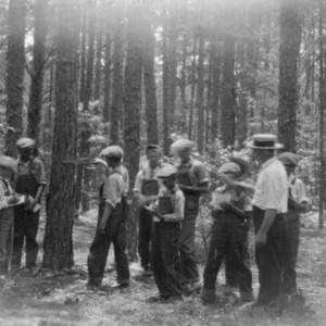 Club Boys studying Timber Estimating at Rowan County Boys' and Girls' Club, July 1926