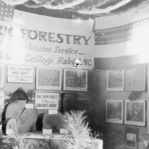 Farm Forestry Exhibit at Lee County Fair