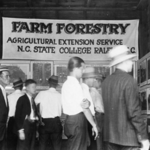 Forestry Exhibit at Oxford Tobacco Experiment Station