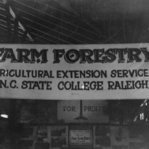 Farm Forestry Exhibit at Pitt County Fair