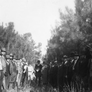 Farmers at forestry demonstration and meeting