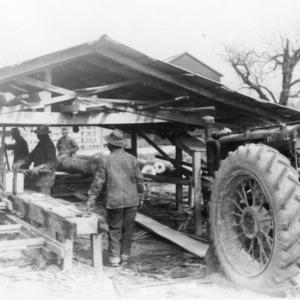 Sawmill on farm