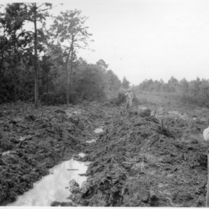 Ditching with dynamite in Hofmann Forest
