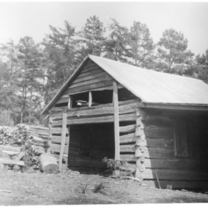 Woodshed on farm