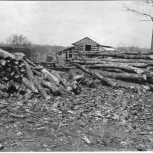 Farmer's woodpile of low grade timber