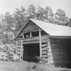 Farm woodshed
