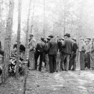 Farmers attending forestry meeting