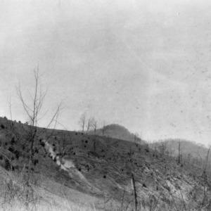 Eroding mountain pasture
