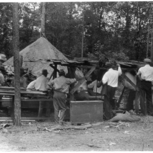 Mill demonstration at Sawmill School