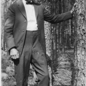 J. H. Frye in pine forest