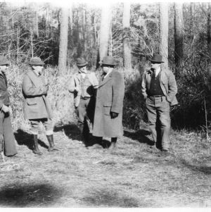 R. W. Graeber conducting an educational tour on timber thinning