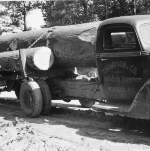 Virgin timber loaded on truck