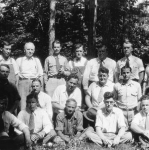 Vocational teachers and forest officials at Bent Creek Laboratory