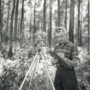 Bob McElwee with equipment