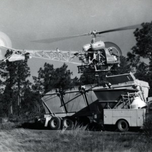 Helicopter in forest
