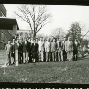 Group photograph in front of Forestry Building