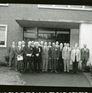 Group photograph in front of Kilgore Hall