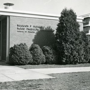 Front entrance of Brandon P. Hodges Wood Products Laboratory School of Forestry
