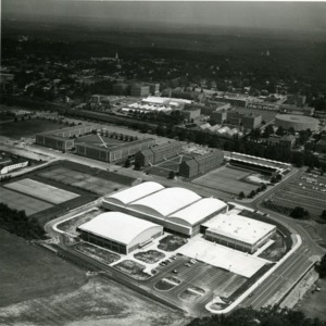 Aerial view of Carmichael Gymnasium