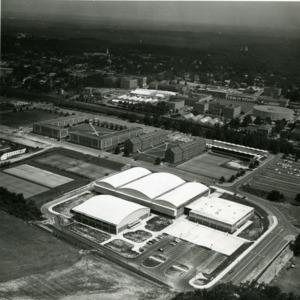 Aerial view of Carmichael Gymnasium