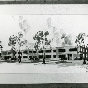 Drawing of Kilgore Hall