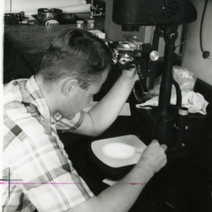 Student in Forestry Laboratory
