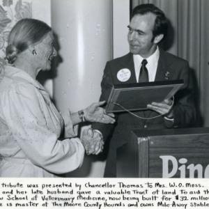 Chancellor Thomas and Mrs. W.O. Moss