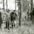 Students on timber survey, cruising Pon Pine, Hofmann Forest, 1940
