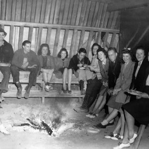 Barn Warming  at cattle barn in Hofmann Forest