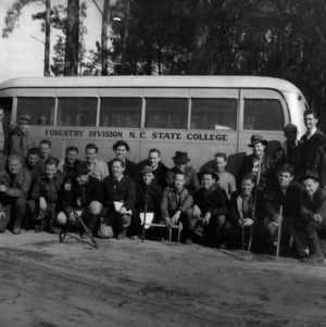 Class of 1941 forestry division students at Hill Forest