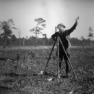 Charlie Pettit surveying in Hofmann Forest