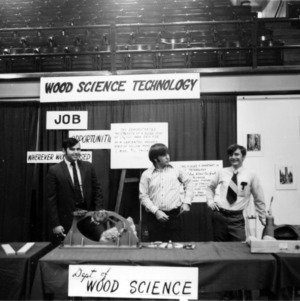 Department of Wood Science display at Open House