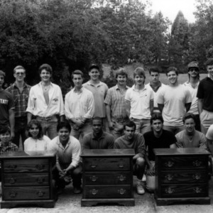 Students with furniture